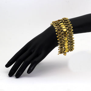 Gold Color Oxidised Bracelet