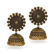 Load image into Gallery viewer, Oxidised Gold Plated Handmade Jhumkis