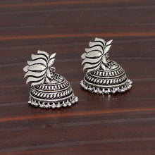 Load image into Gallery viewer, German Silver Plated Oxidised Jhumkas