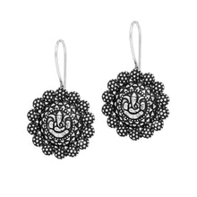 Load image into Gallery viewer, Oxidized German Silver Ganesha Styled Drop Earrings