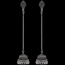 Load image into Gallery viewer, Beautiful Oxidized Silver Jhumka Earrings
