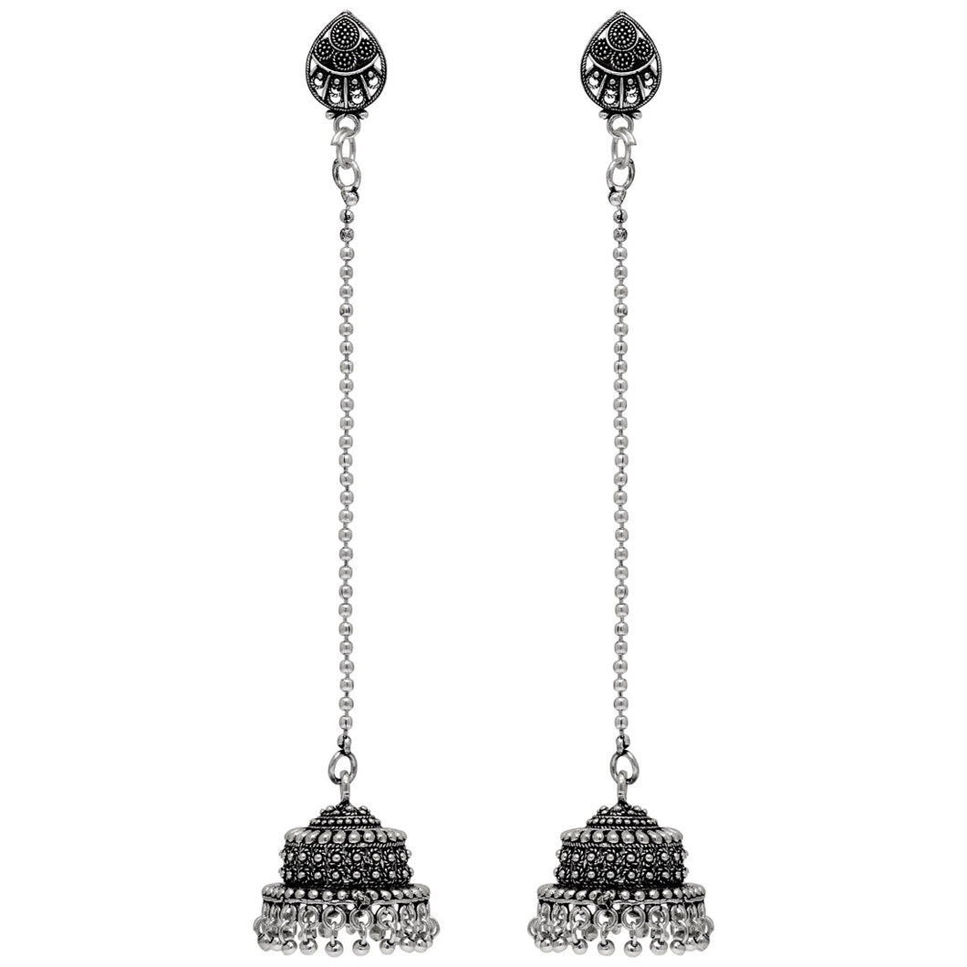 Beautiful Oxidized Silver Jhumka Earrings