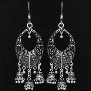Silver Oxidised Earrings