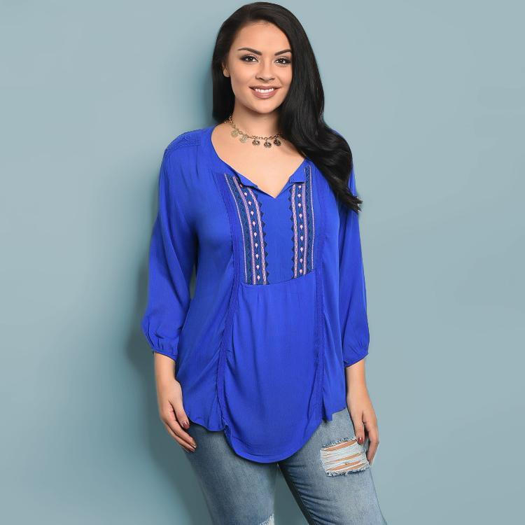Tops - Sweet Embroidered Blouse+