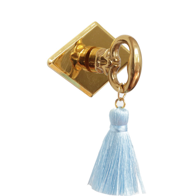 Diamond Brass Tassel Drawer Pull- Choose your color