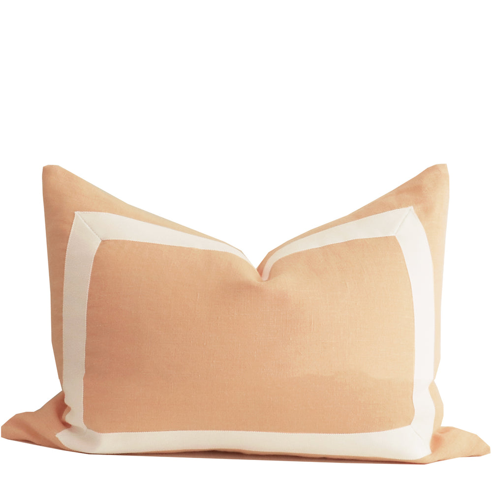 Sherbet Organic Hemp Pillow with White Ribbon Trim