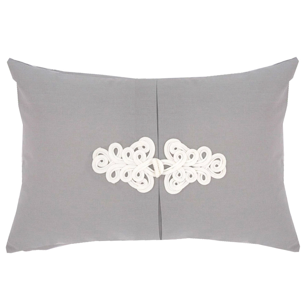 Light Gray Knot Pillow
