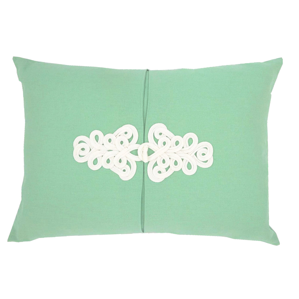 Willow Green Knot Pillow