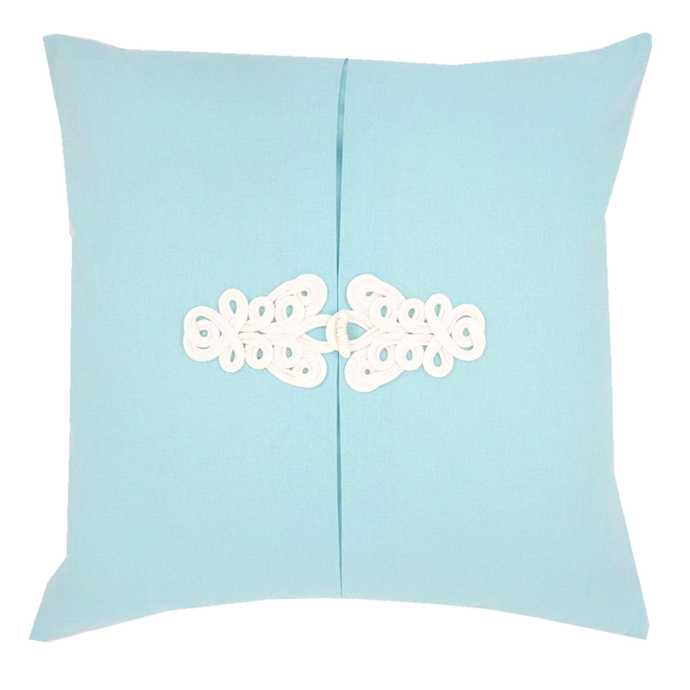 Aqua Knot Pillow