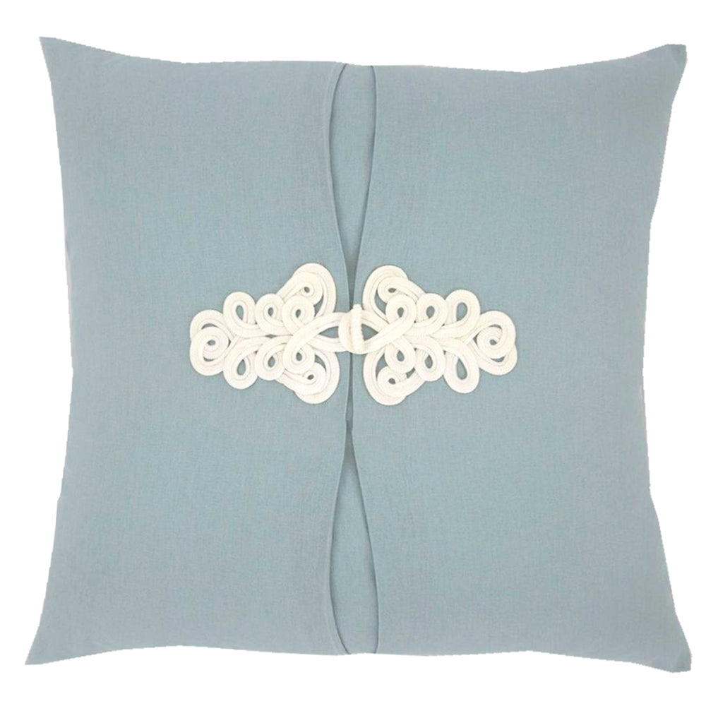 Hydrangea Light Blue Knot Pillow