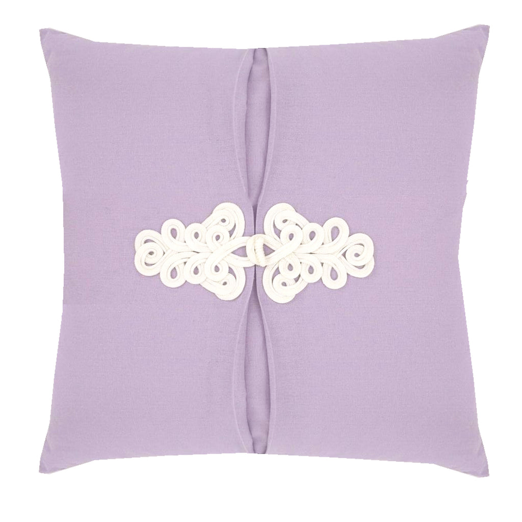 Lilac Purple Knot Pillow