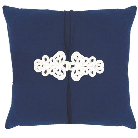 Navy Blue Knot Pillow