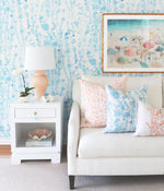 """Aster"" in Blue Wallpaper for Lo Home x Junior Sandler"