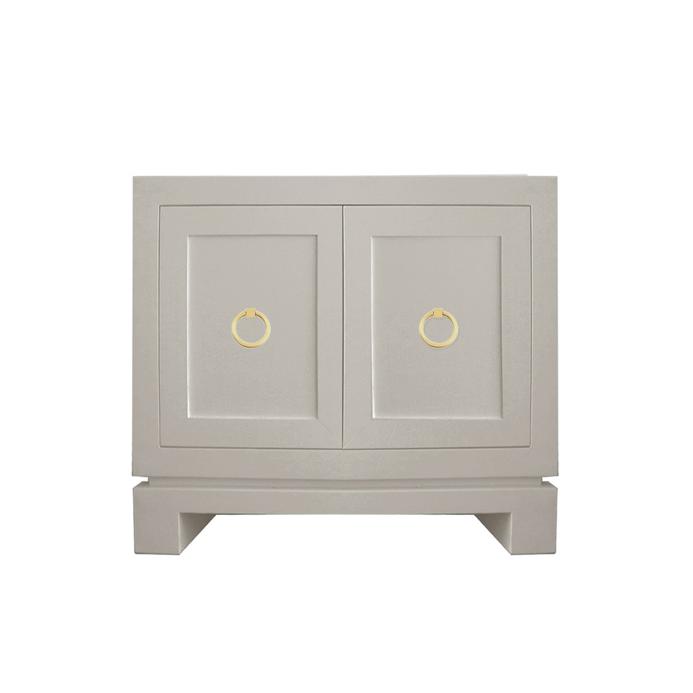 Hayes Small Cabinet with Brass Ring Hardware