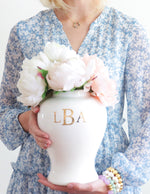 Classic Monogram Ginger Jars in French Blue