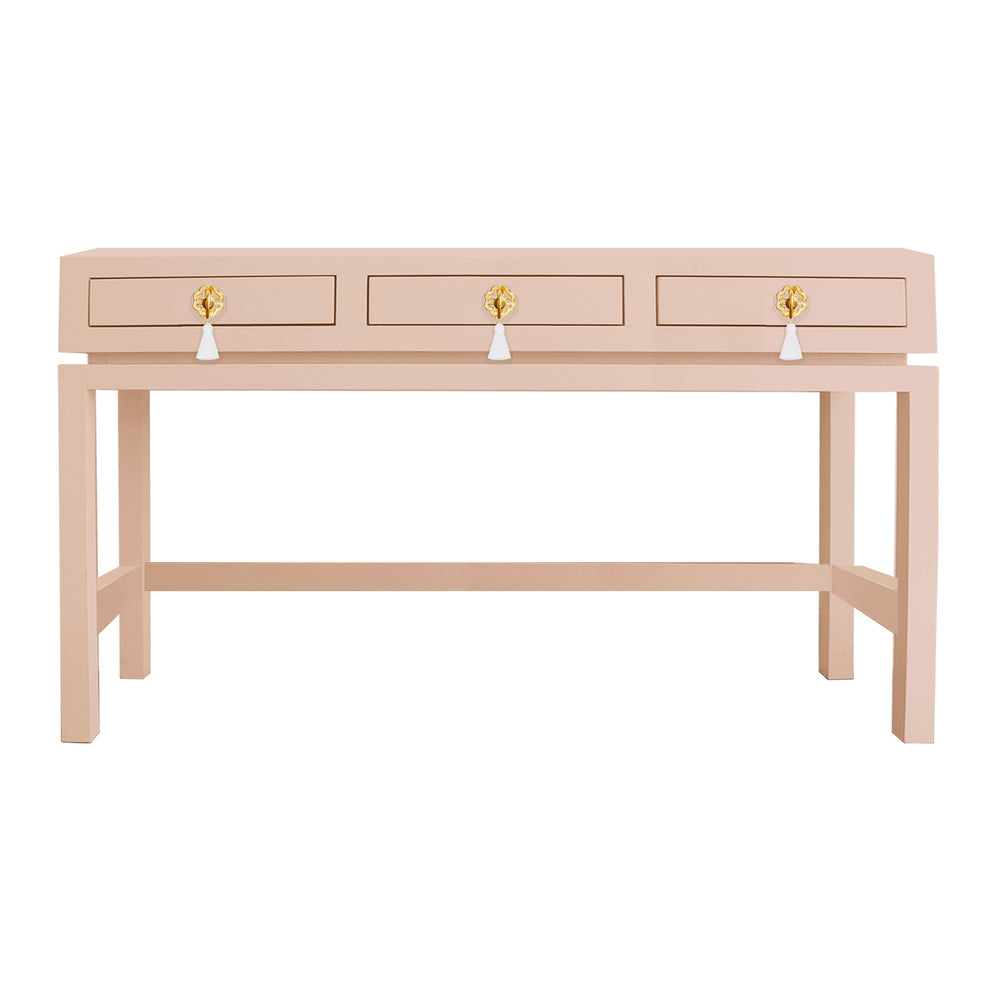 Hamilton Desk with Brass Floral Tassel Hardware