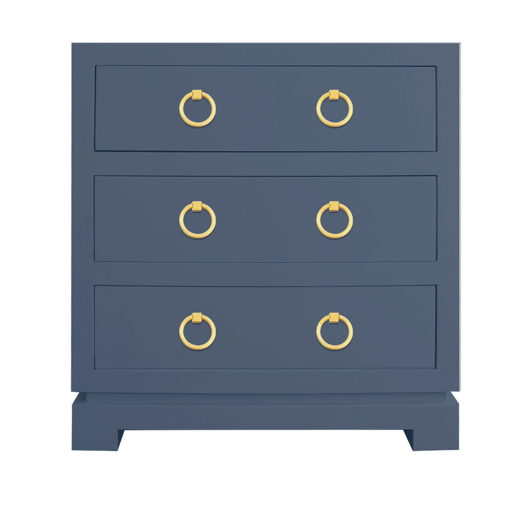 Eden Three Drawer Chest with Brass Ring Hardware