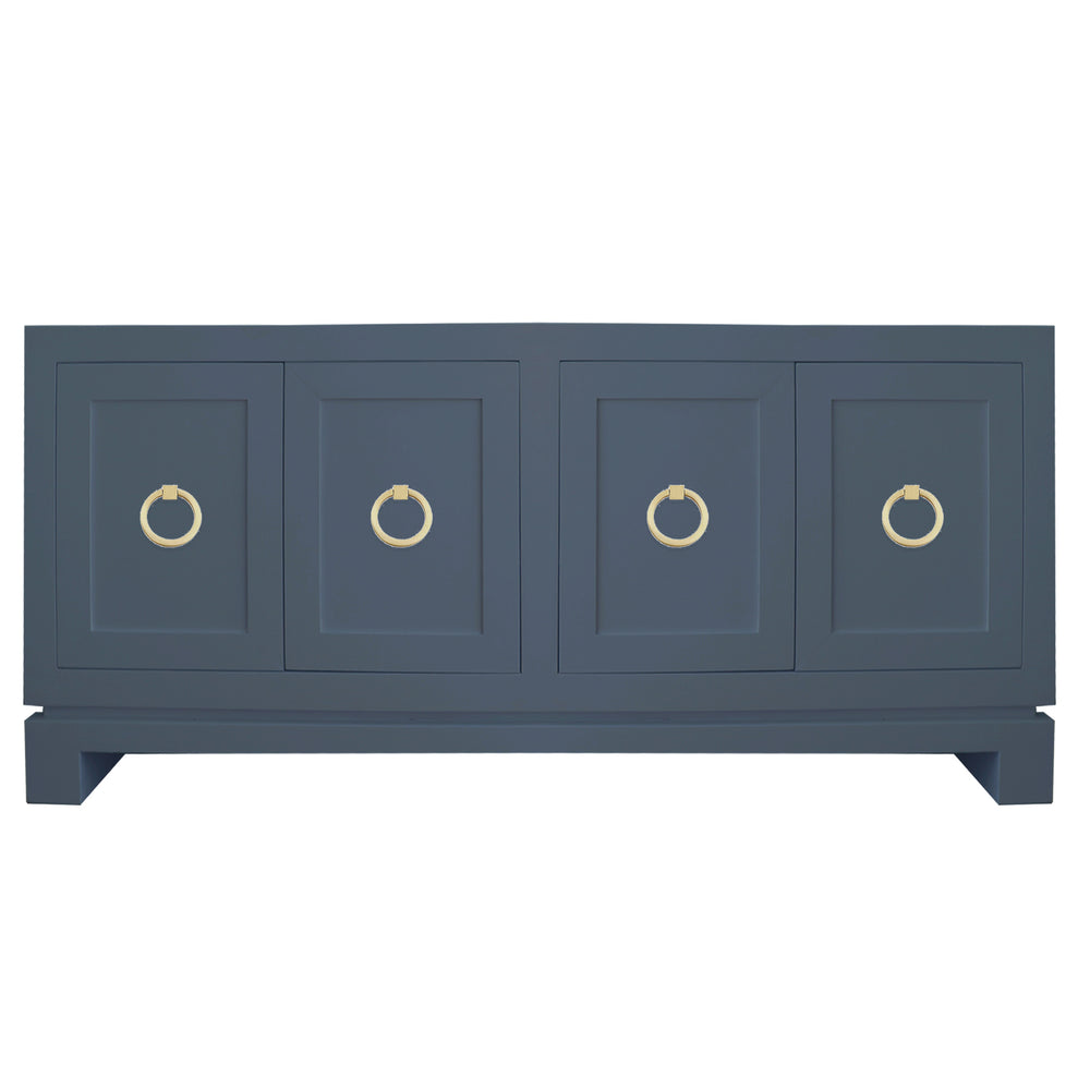 Hayes Large Cabinet with Brass Ring Hardware