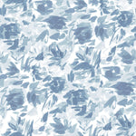 """Floralie"" by Lo Home x Taelor Fisher Fabric in Blue"