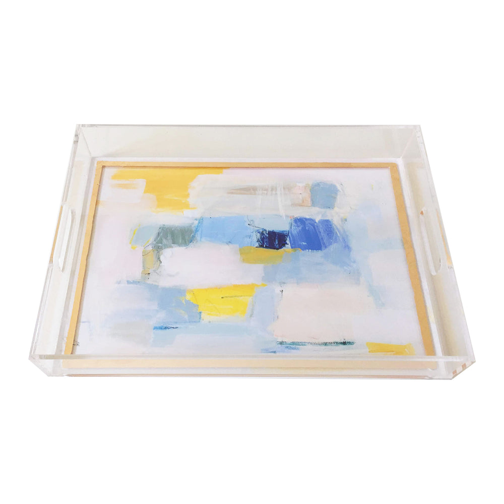 Acrylic Display Tray with Gold Leaf Detail