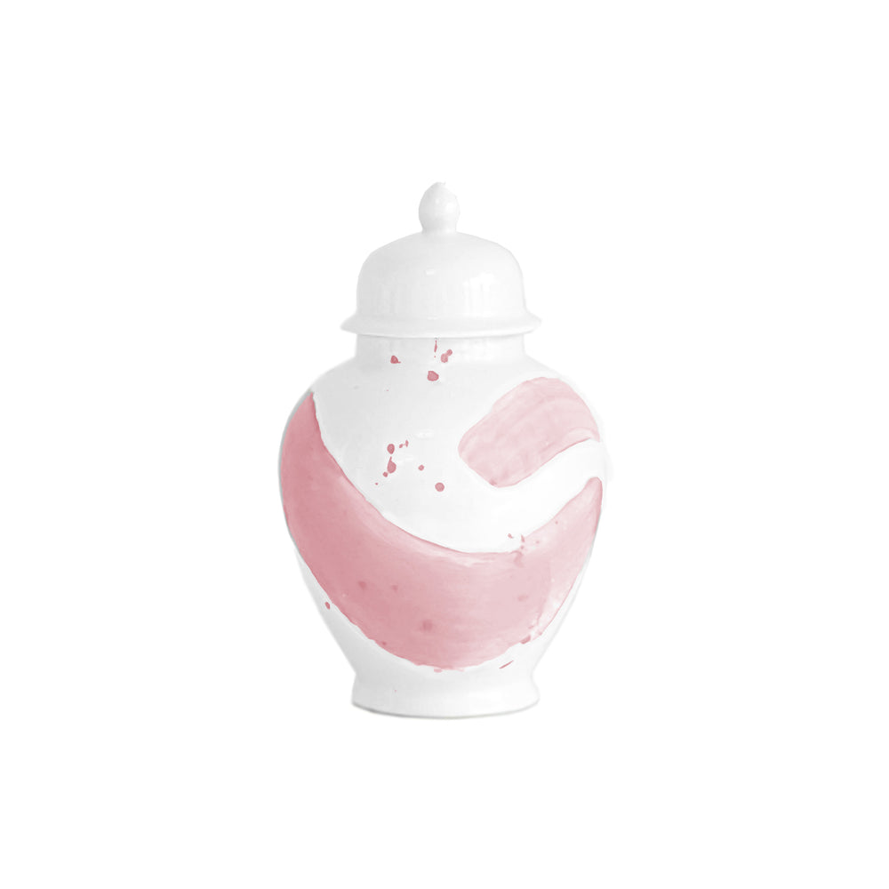 Cherry Blossom Pink Brushstroke Ginger Jar