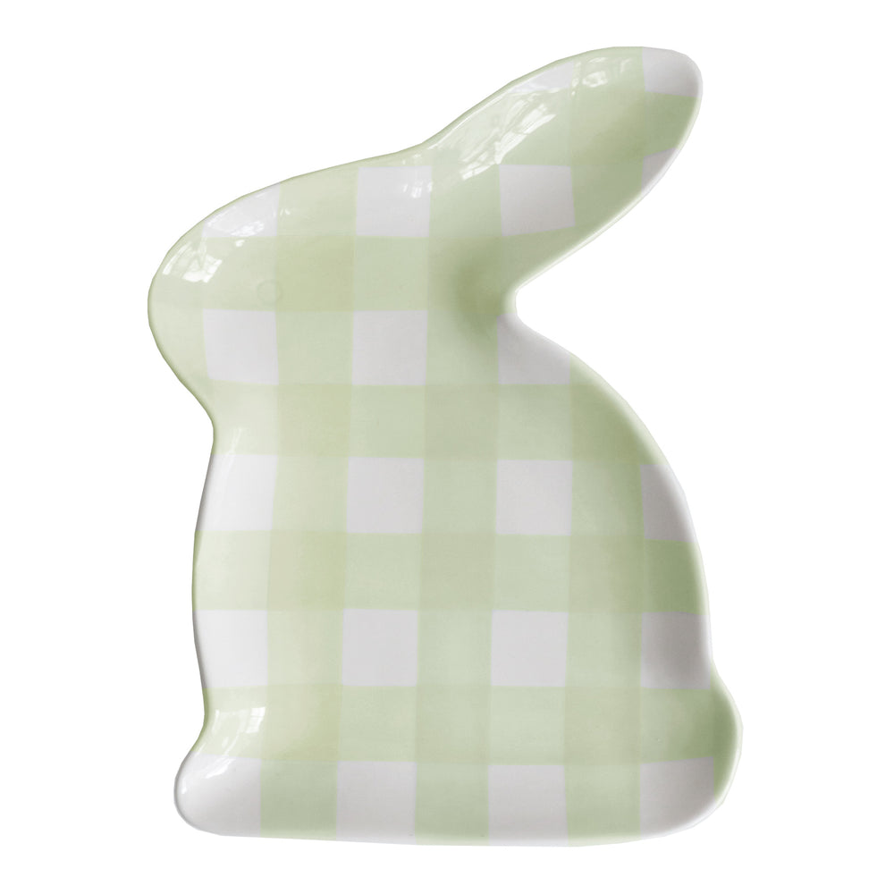 Gingham Bunny Serving Dish