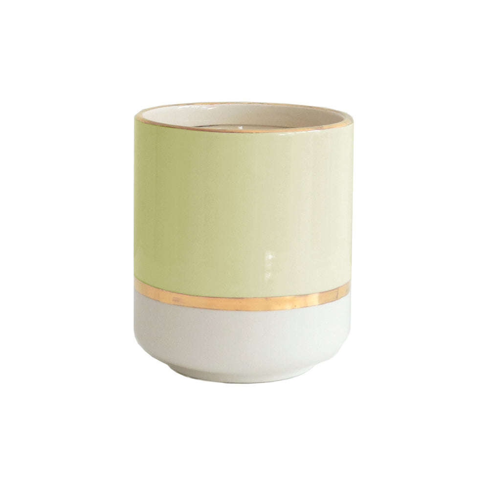 Colorblock Refillable Candle Holder and Pure Beeswax Candle