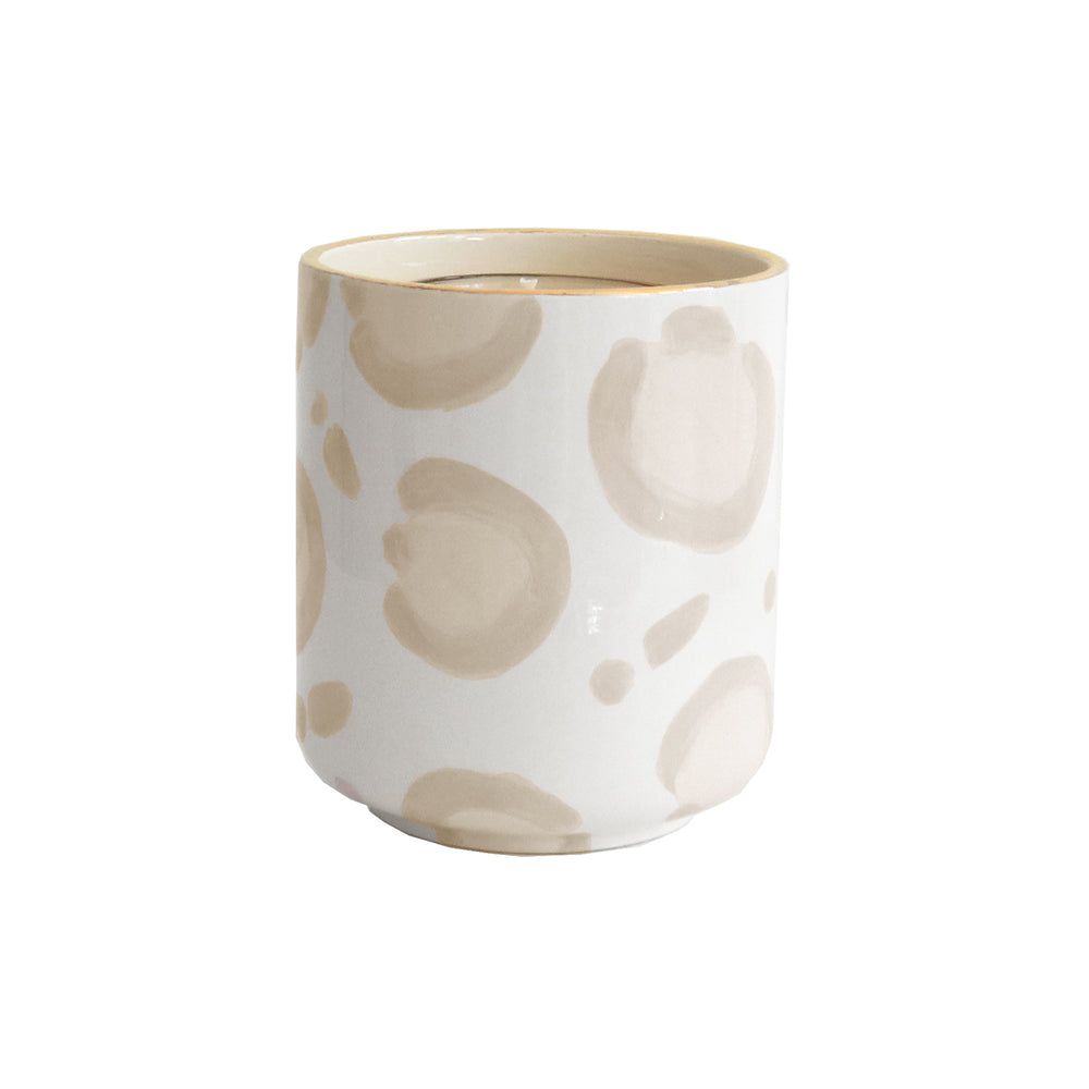 Leopard Refillable Candle Holder and Pure Beeswax Candle