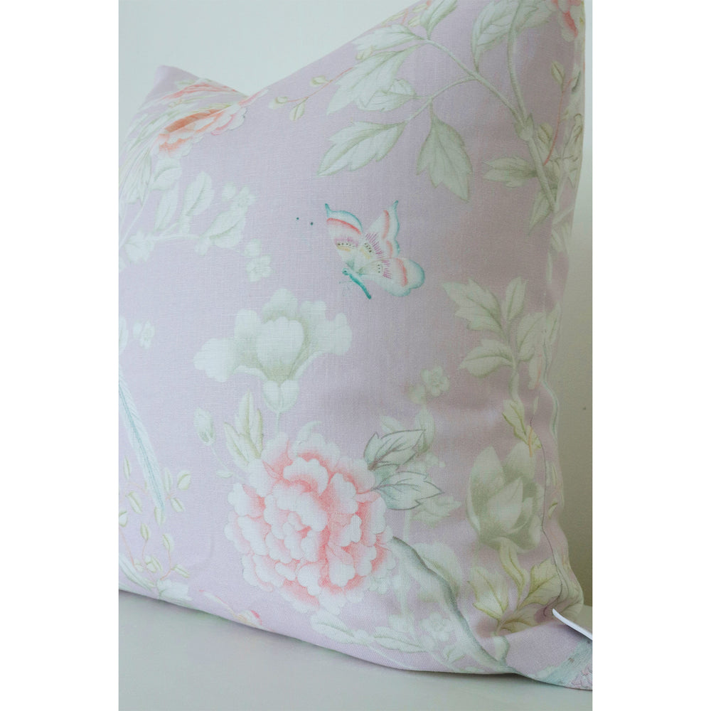 """Chinoiserie Garden"" by Lo Home x Tashi Tsering Fabric in Lilac"