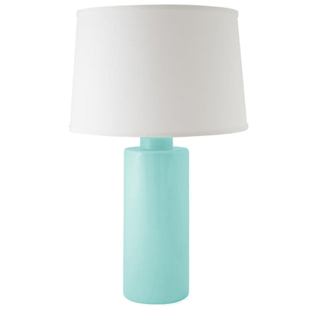 Aqua Solid Column Lamp