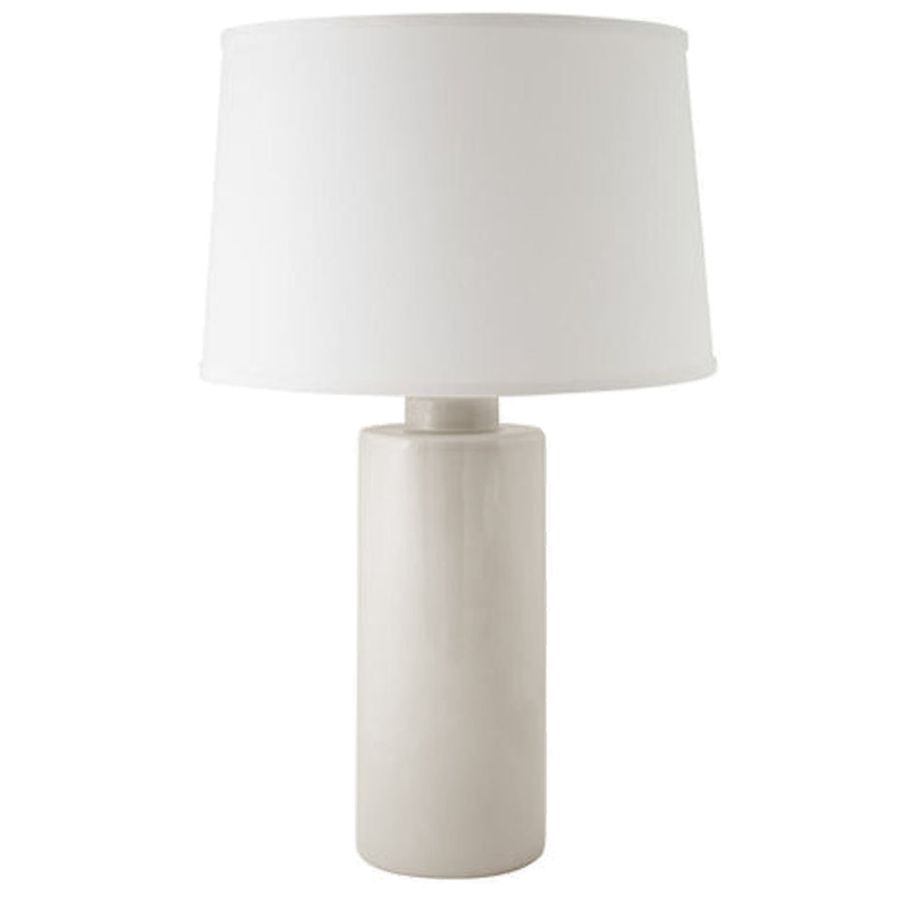 Beige Solid Column Lamp
