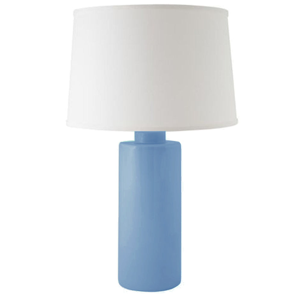 French Blue Solid Column Lamp
