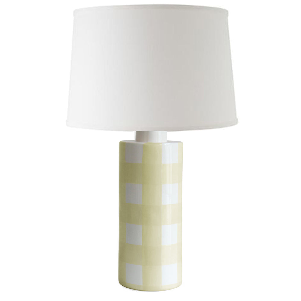 Lemon Sorbet Gingham Column Lamp
