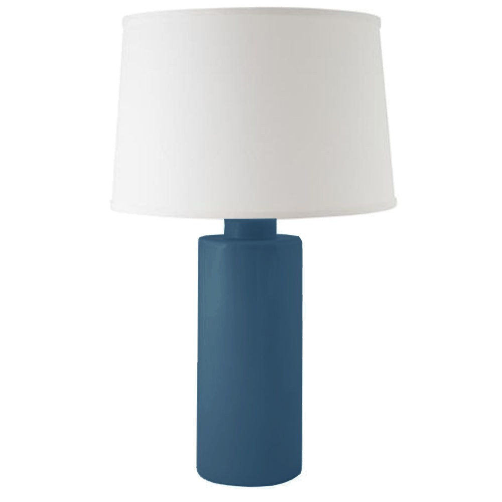 Navy Blue Solid Column Lamp