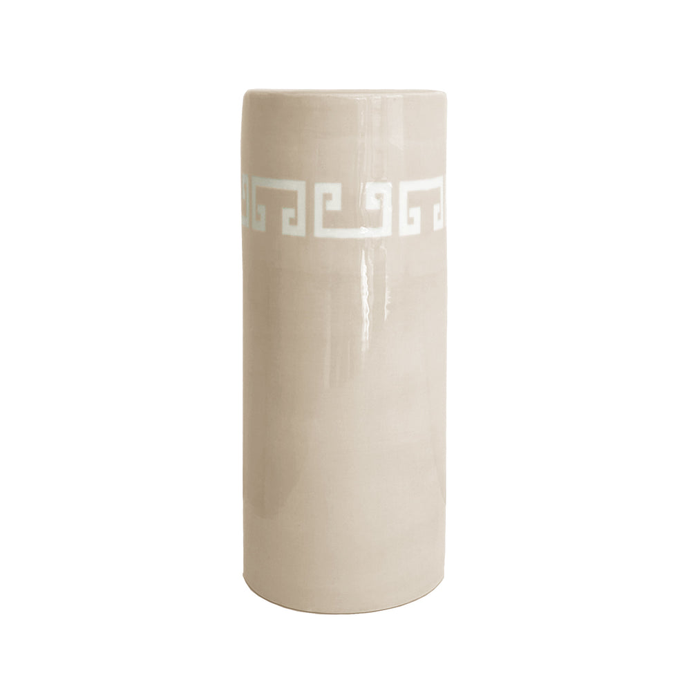 Greek Key Column Vase