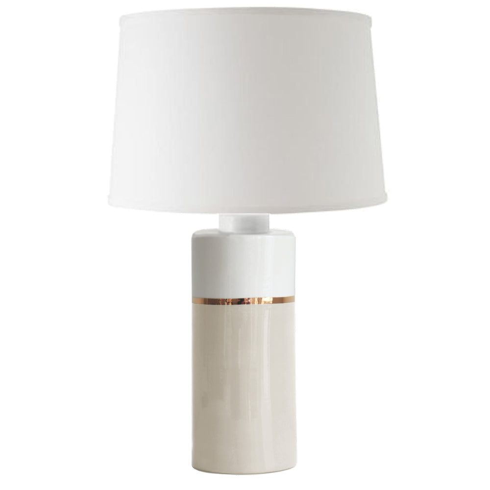 Beige Color Block Column Lamp