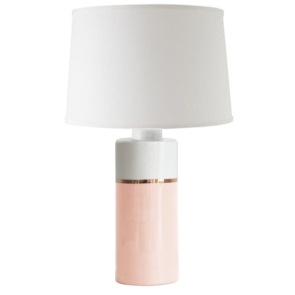 Blush Color Block Column Lamp