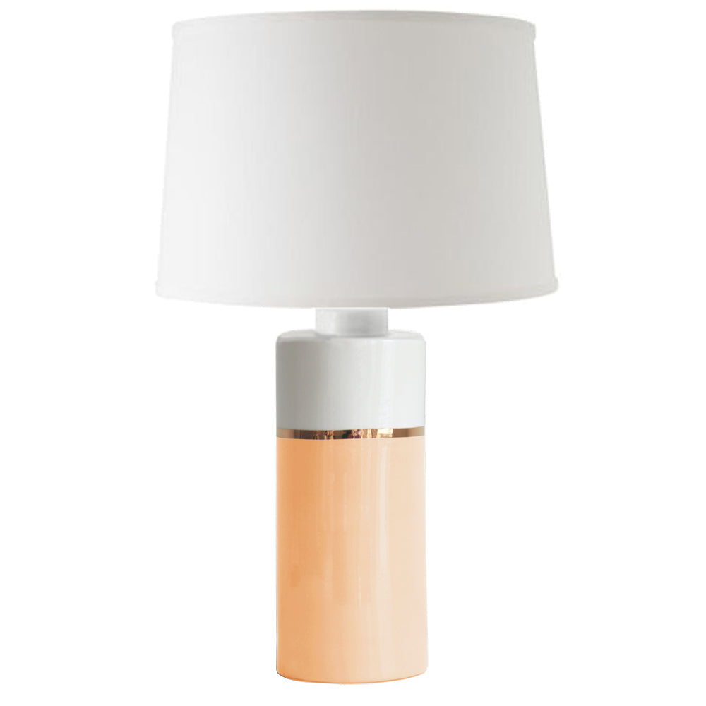 Coral Color Block Column Lamp