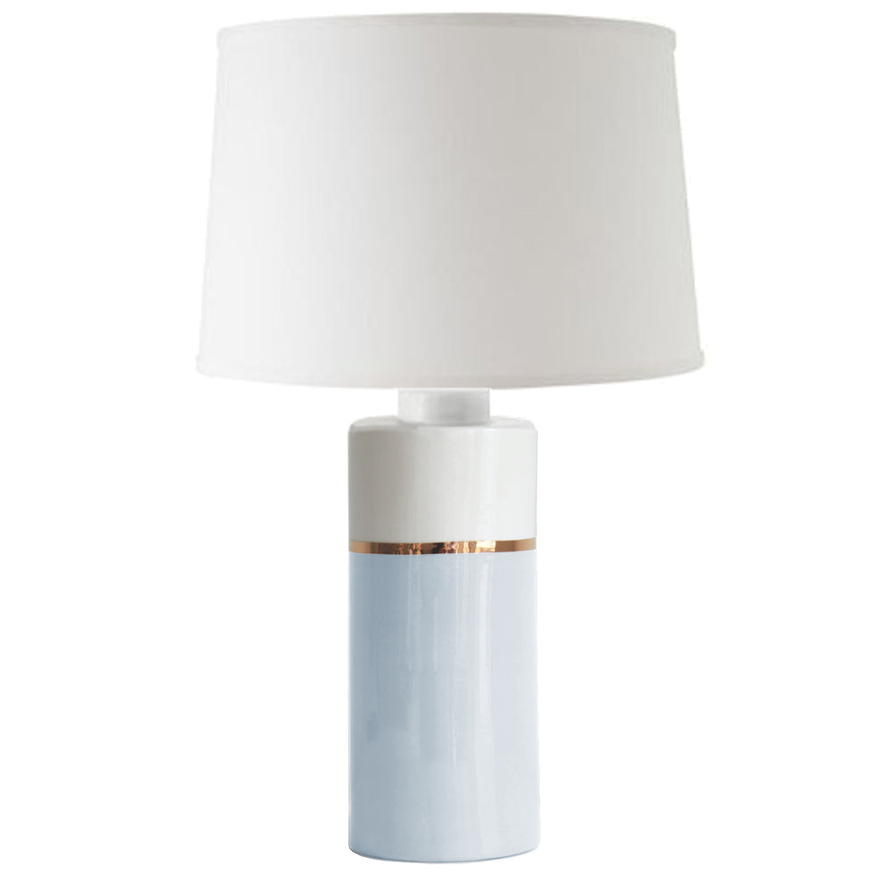 Hydrangea Light Blue Color Block Column Lamp