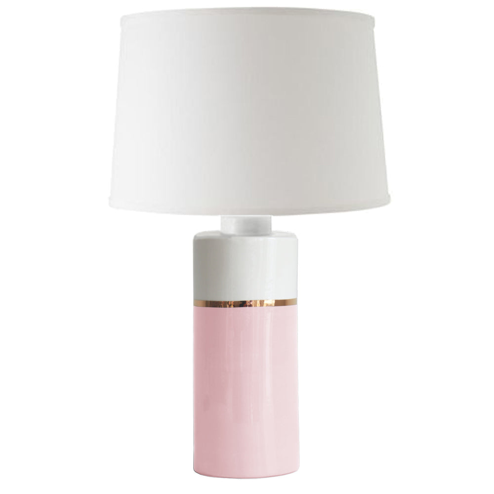 Cherry Blossom Pink Color Block Column Lamp