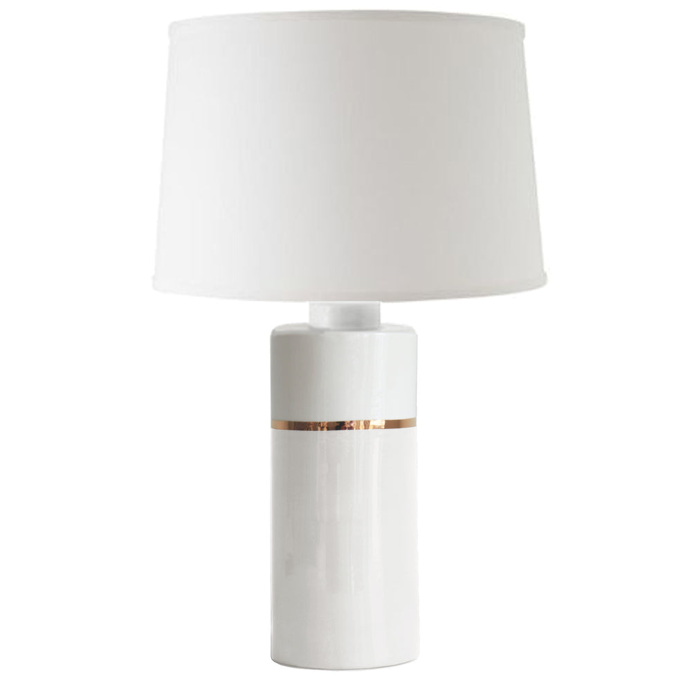 White Color Block Column Lamp
