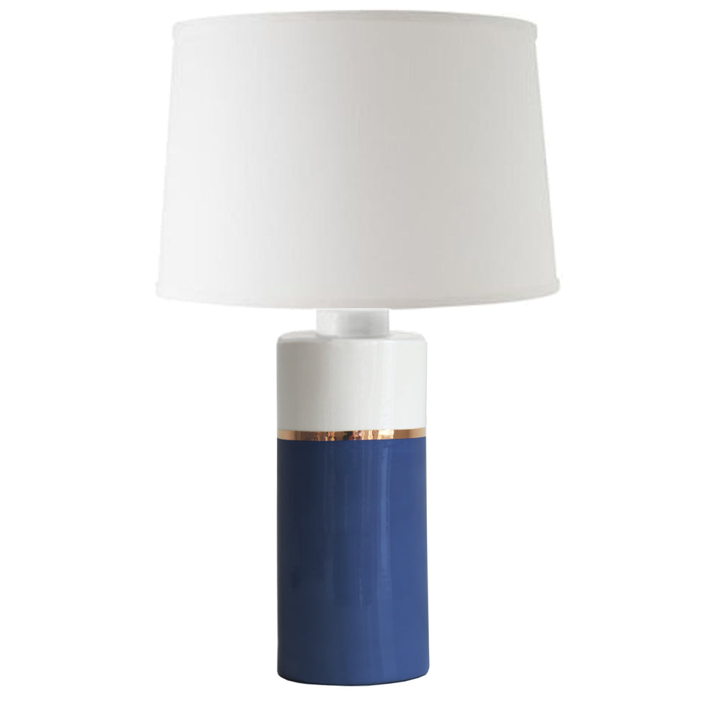 Navy Blue Color Block Column Lamp