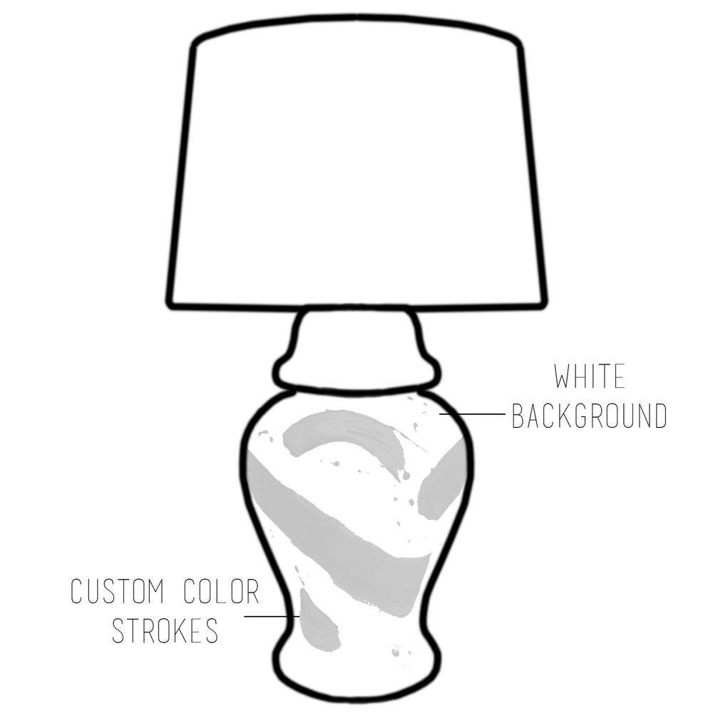 Custom Color Brushstroke Ginger Jar Lamp