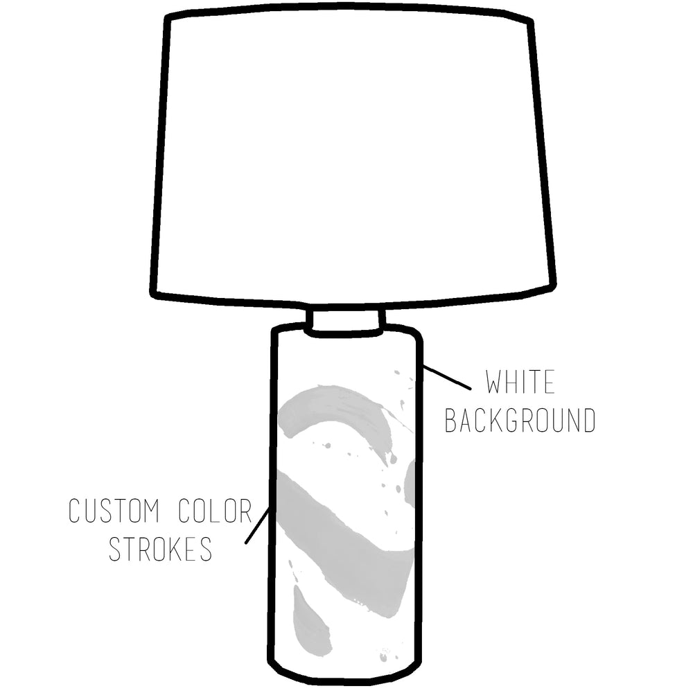 Custom Brushstroke Column Lamp