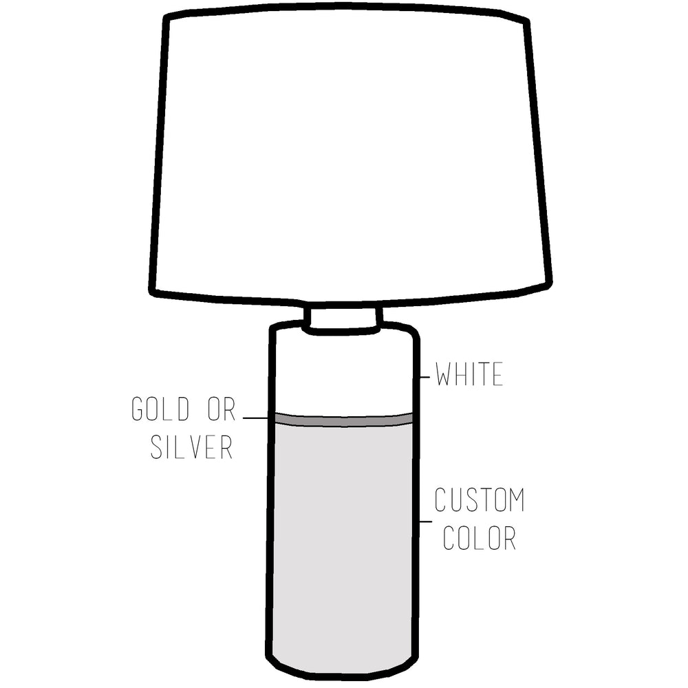 Custom Color Block Column Lamp