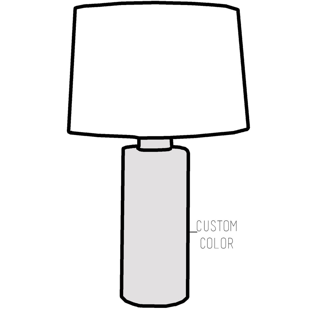Custom Solid Column Lamp