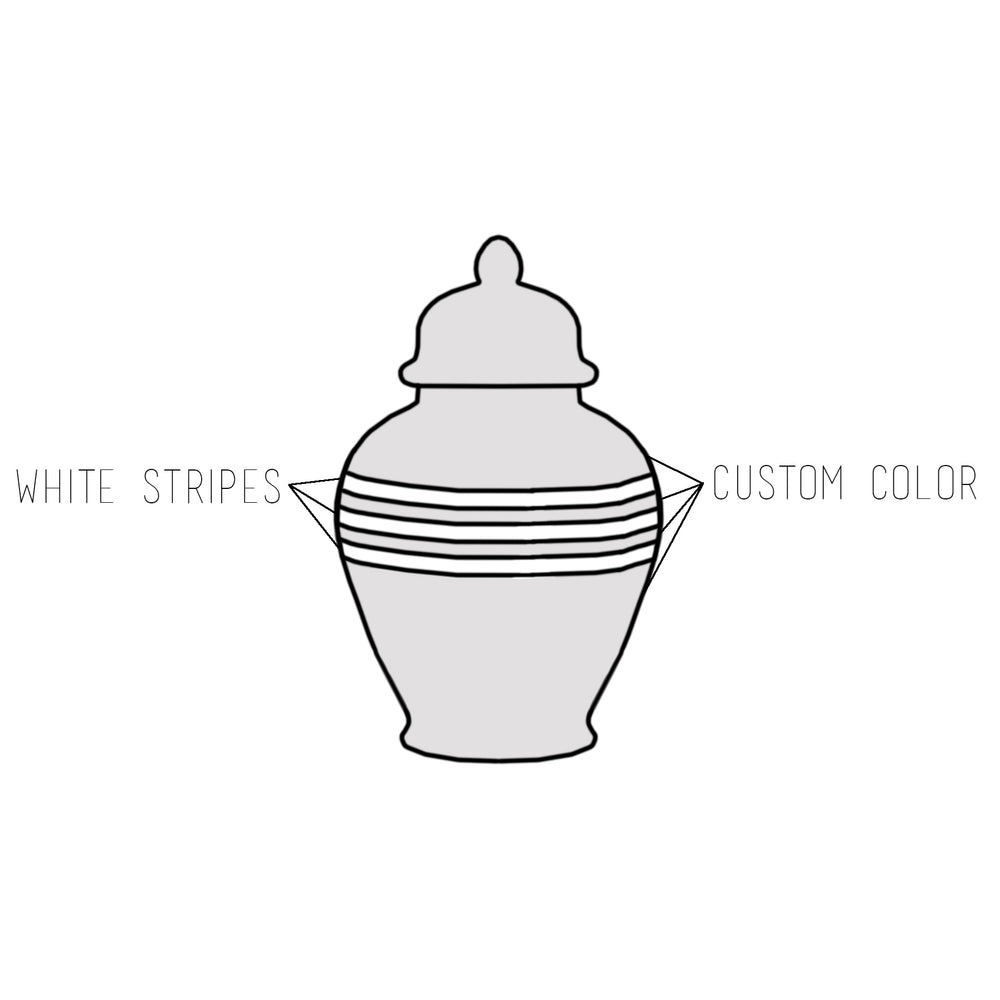 Custom Color Striped Ginger Jars