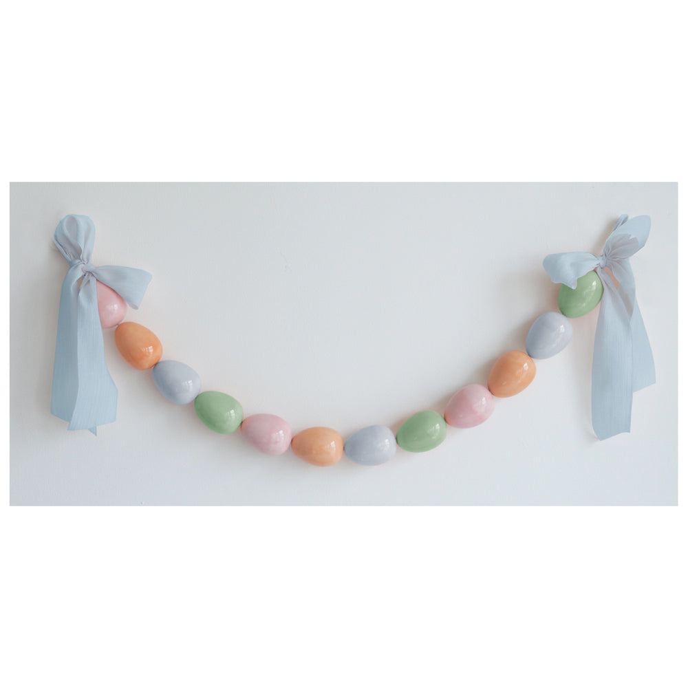 Easter Egg Garland in Pastel Multi
