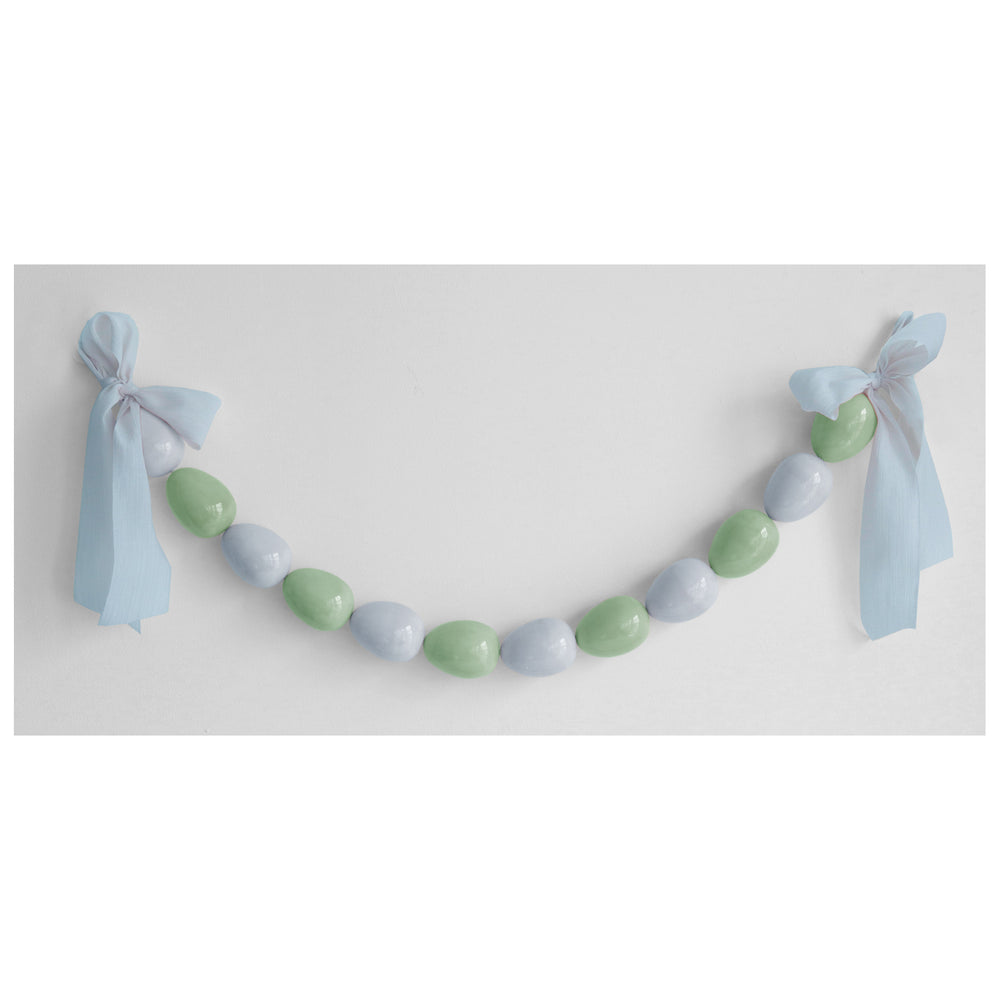 Easter Egg Garland in Blue and Green