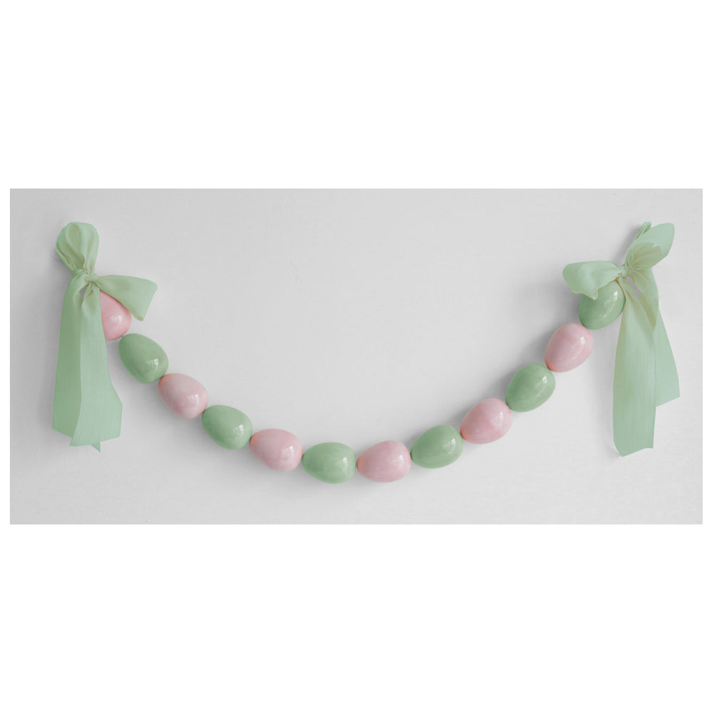 Easter Egg Garland in Pink and Green